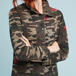Pilcro and The Letterpress Embroidered Camo Jacket